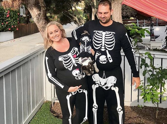 pregnancy skeleton costume