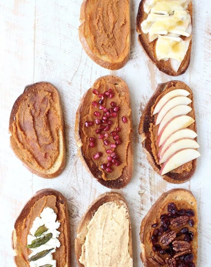 pumpkin toast seven ways recipe