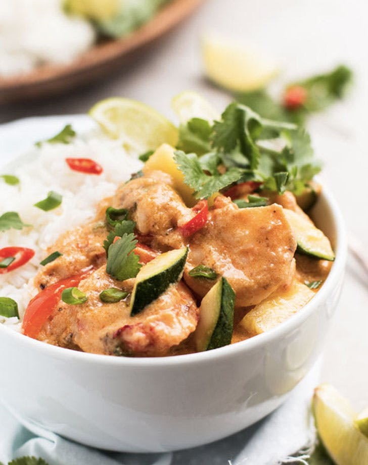 quick thai shrimp curry with pineapple recipe