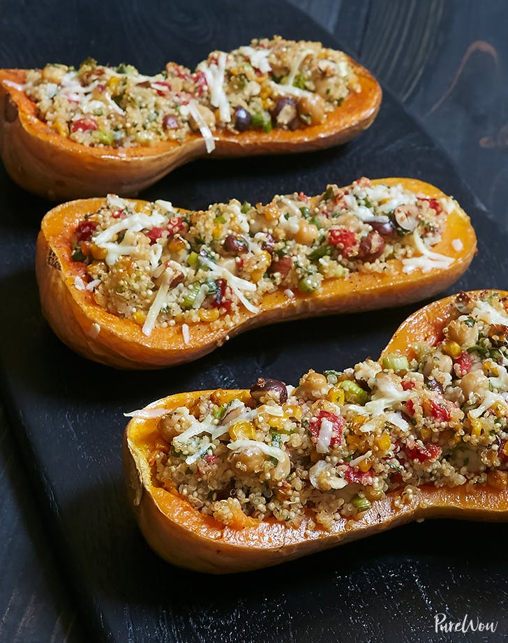 quinoa stuffed butternut squash recipe