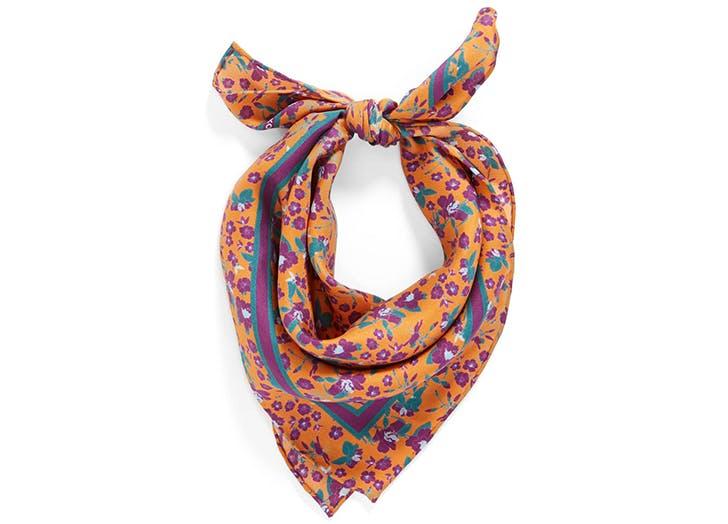 rebecca minkoff printed silk scarf