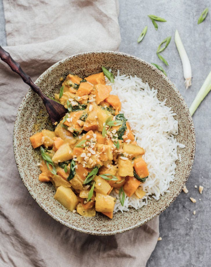 roasted sweet potato and pineapple curry recipe