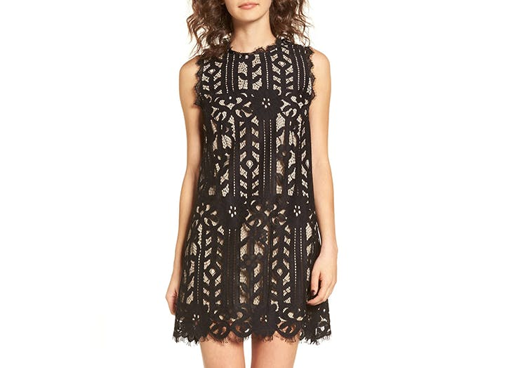 speechless lack lace mini dress