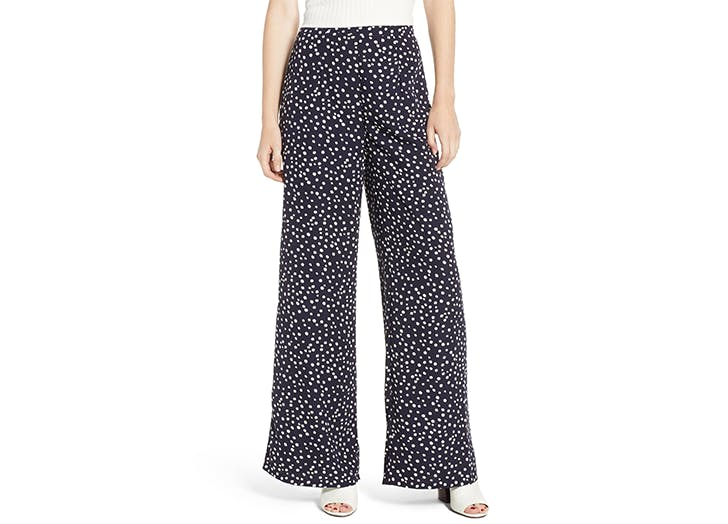 storee polka dot wide leg pants