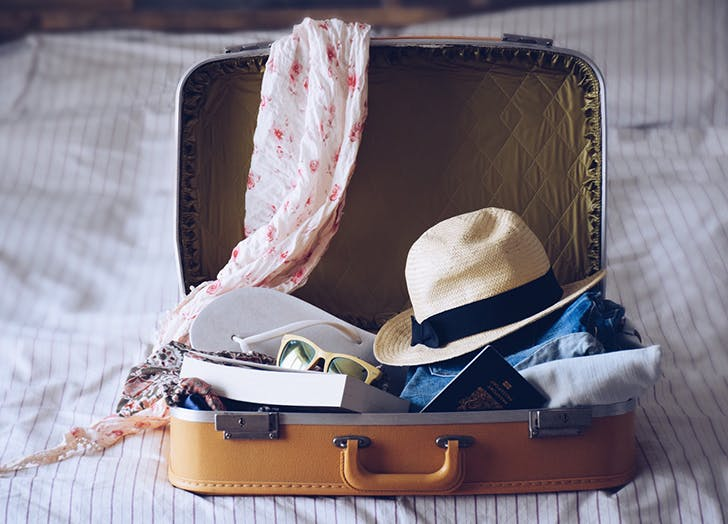suitcase packed