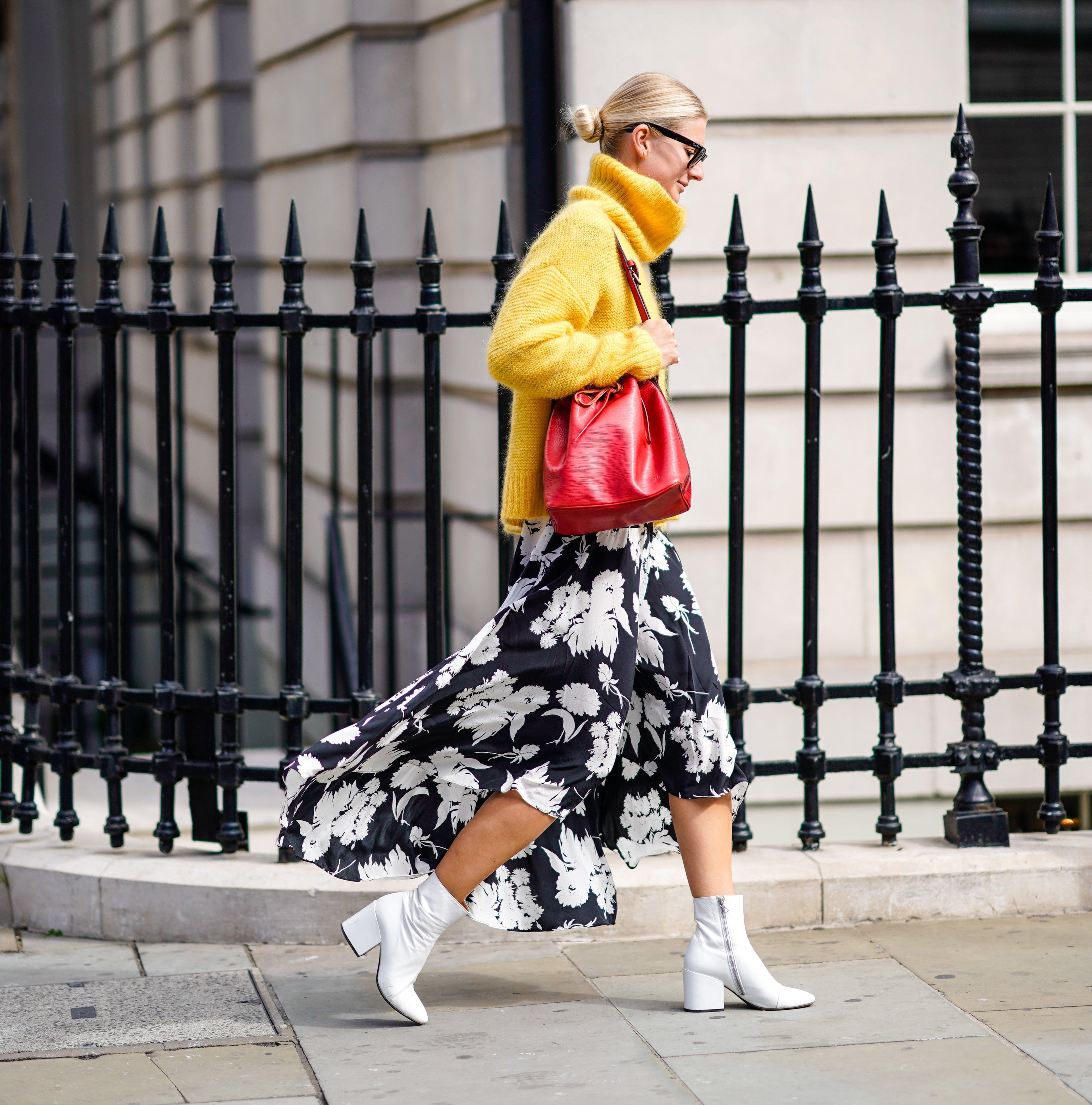 sundress sweater white boots 1038695834