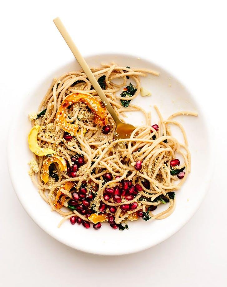 vegan spaghetti aglio e oli recipe1