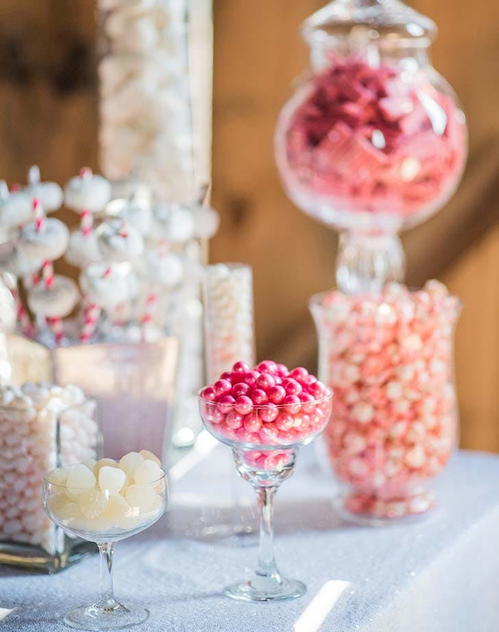 wedding snack candybar