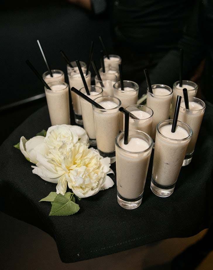 wedding snack milkshake