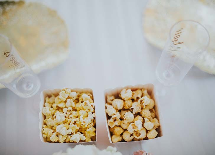 wedding snack popcorn