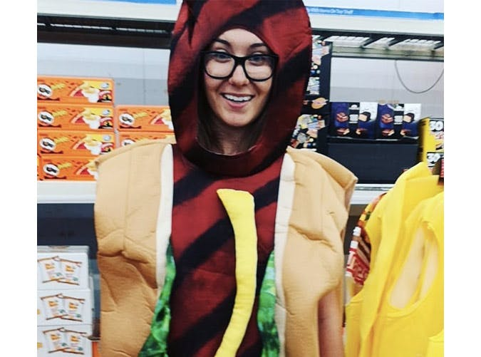 womens hotdog halloween costume