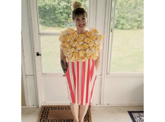 womens popcorn halloween costume