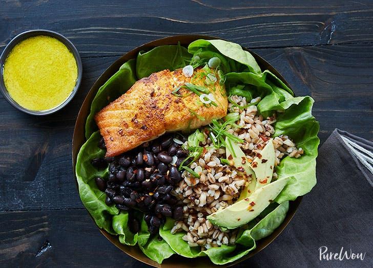 Anti inflammatory salmon bowl