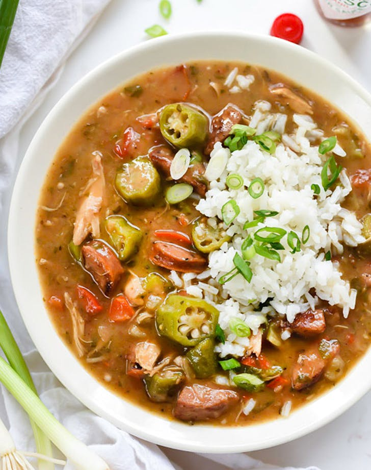 Chicken  Crab  and Andouille Sausage Gumbo recipe