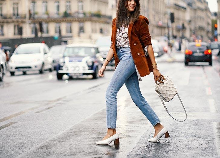 Fashionable woman wearing denim