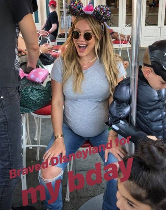 Hilary Duff at Disneyland with family
