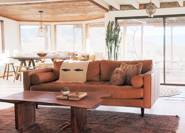 Joshua Tree leather couch