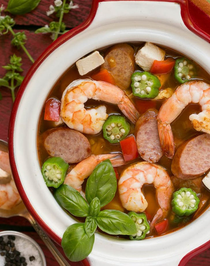 One Pot Chicken and Shrimp Gumbo recipe