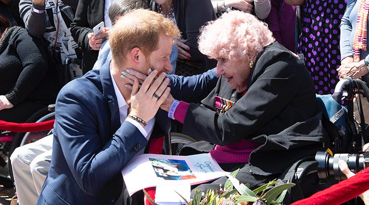 Prince Harry Reunited with His 98-Year-Old Friend on Tour & You Have to See the Pic