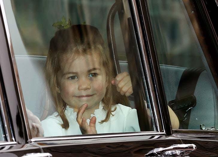 Princess Charlotte waves at Princess Eugenie s wedding