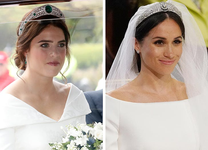 Princess Eugenie Meghan Markle tiaras