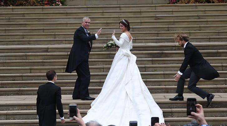 Princess Eugenie's Peter Pilotto Wedding Gown Was Full of Hidden Symbols