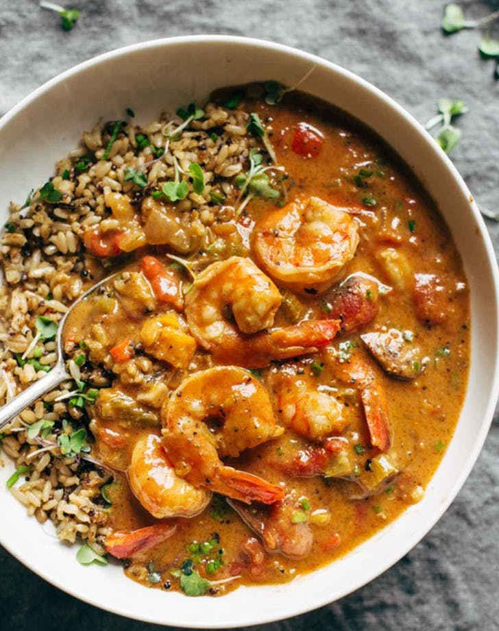 Spicy Weekend Gumbo with Shrimp and Sausage recipe