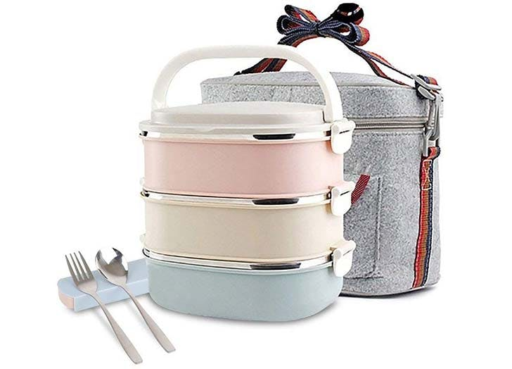 Stainless Steel Lunch Box With Bag