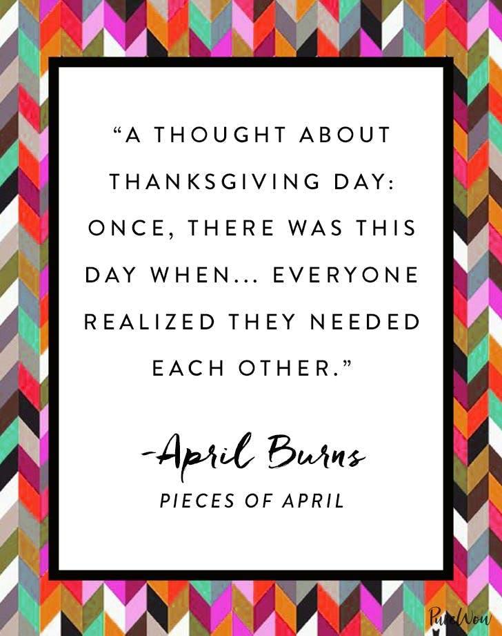 Thanksgiving Quote April Burns