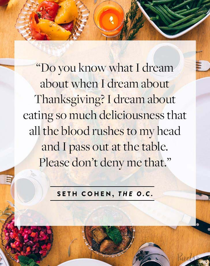 Thanksgiving Quote Seth Cohen from the OC