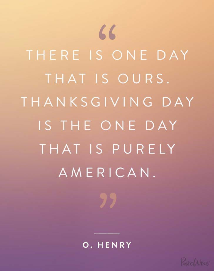 Thanksgiving quote O Henry