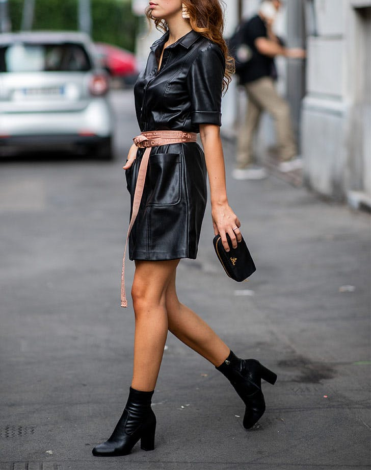 ankle boots with black dress