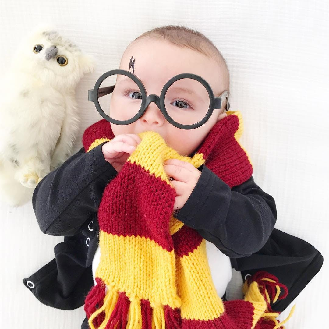 baby dressed as harry potter for halloween