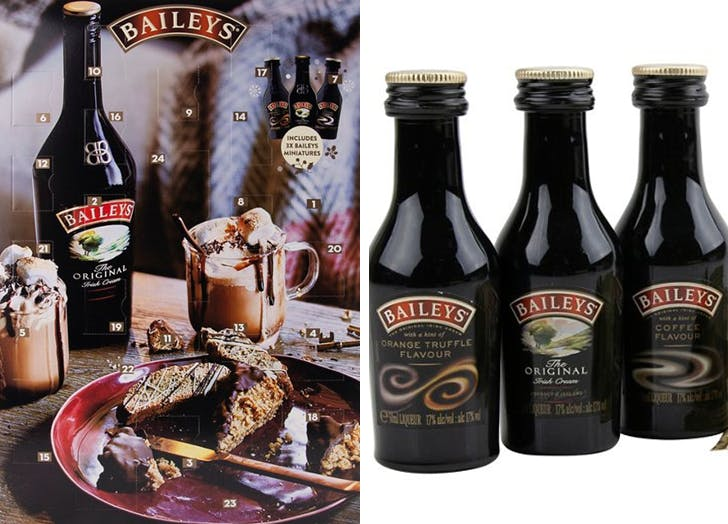 There's a Baileys Advent Calendar That's Filled with Chocolate Truffles and Mini Bottles of Irish Cream