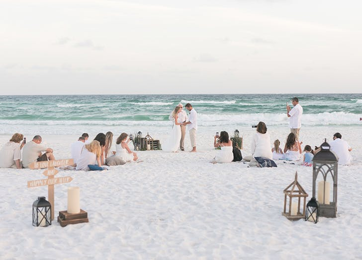 An Inspiring 500 Beach Wedding Purewow