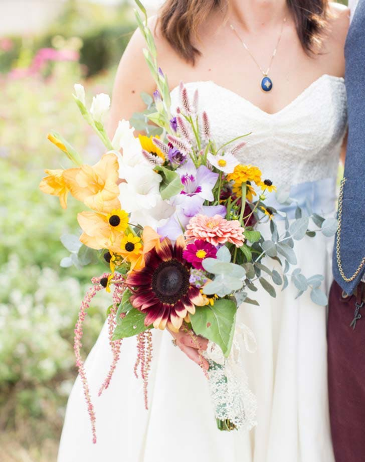 black eyes susan wedding bouquet1