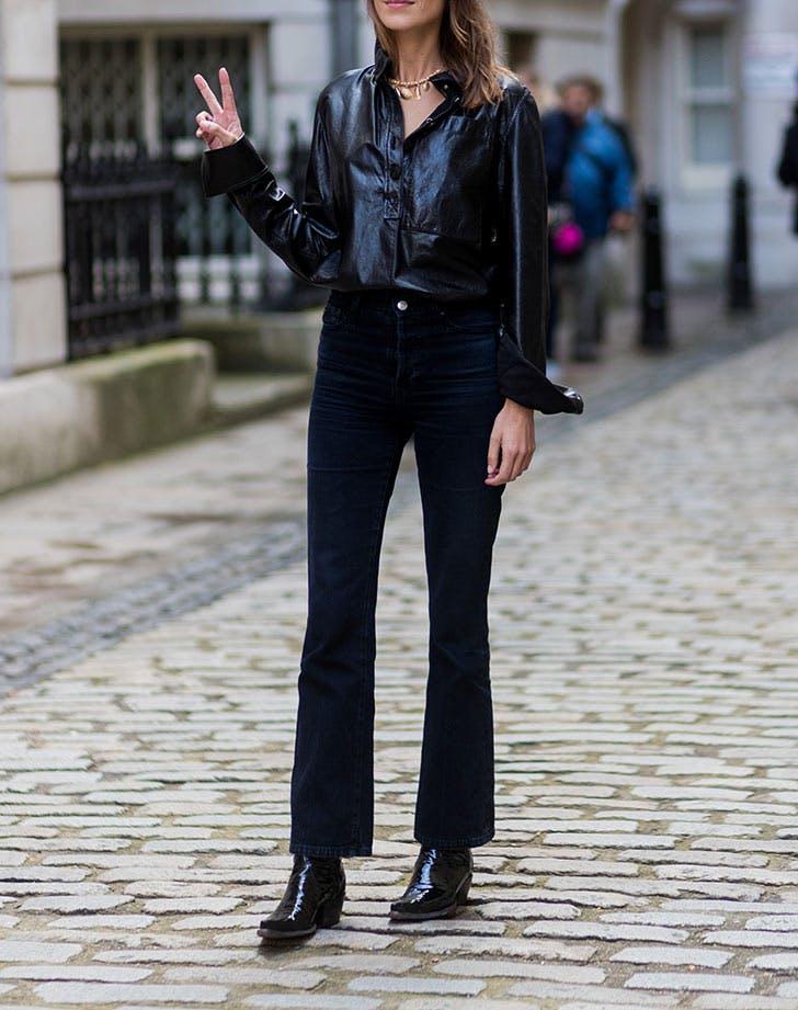 black skinny jeans black ankle boots