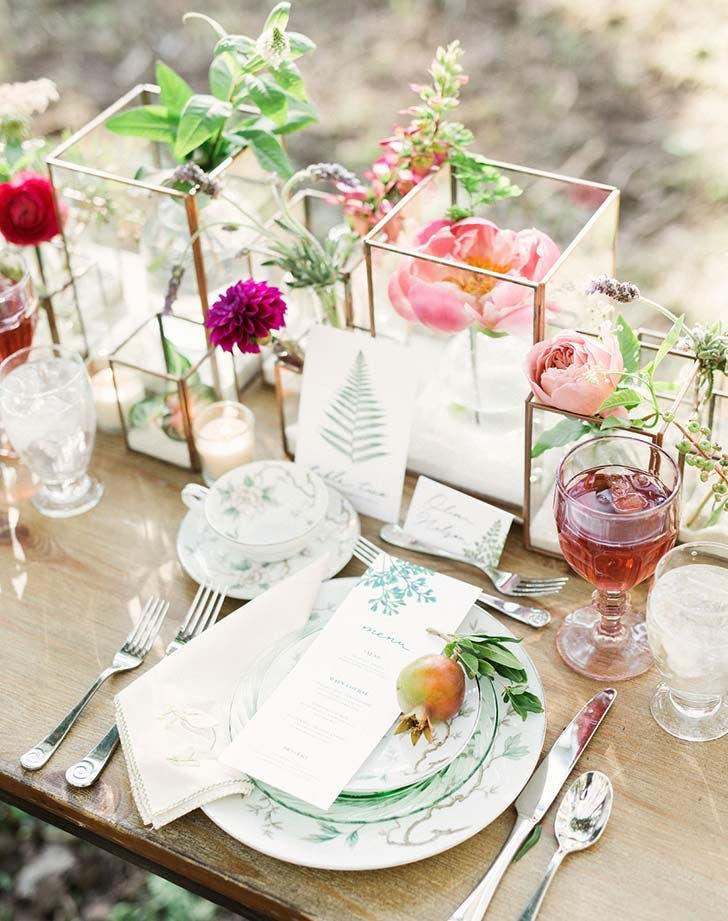 Bud Vase Wedding Flowers Purewow