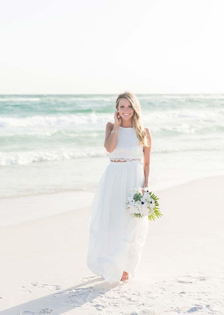 An Inspiring 500 Beach Wedding Purewow