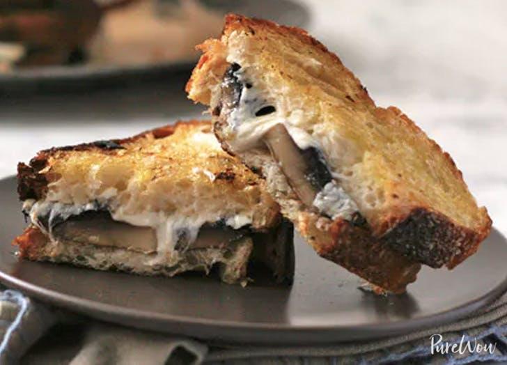 cheesy roasted mushroom melt