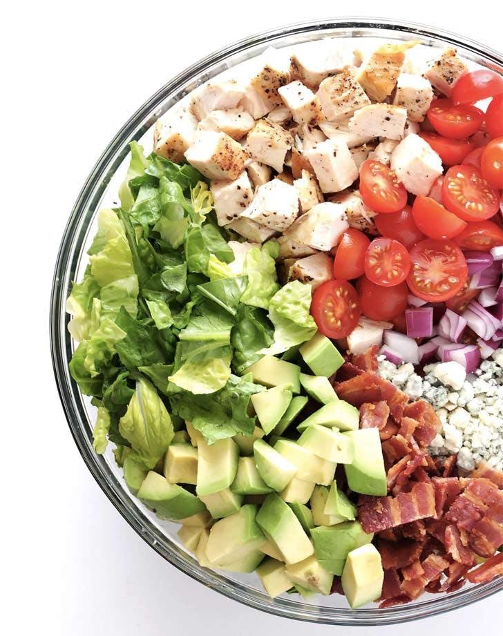 chicken bacon avocado chopped salad