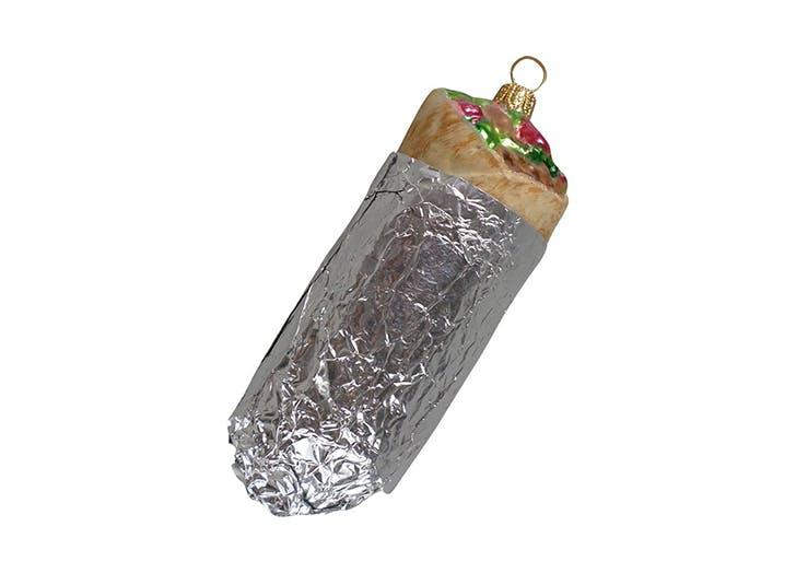 christmas burrito ornament