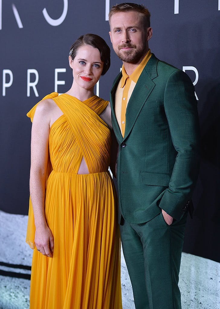 claire foy ryan gosling matching outfits