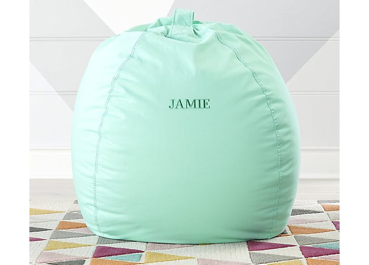 crate and barrel personzlied bean bag chair