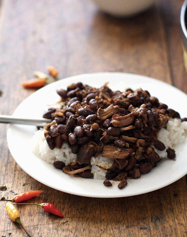 crock pot pork adobo with black beans recipe