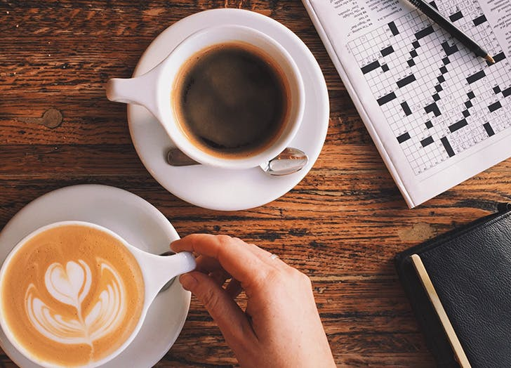 crosswords and coffee