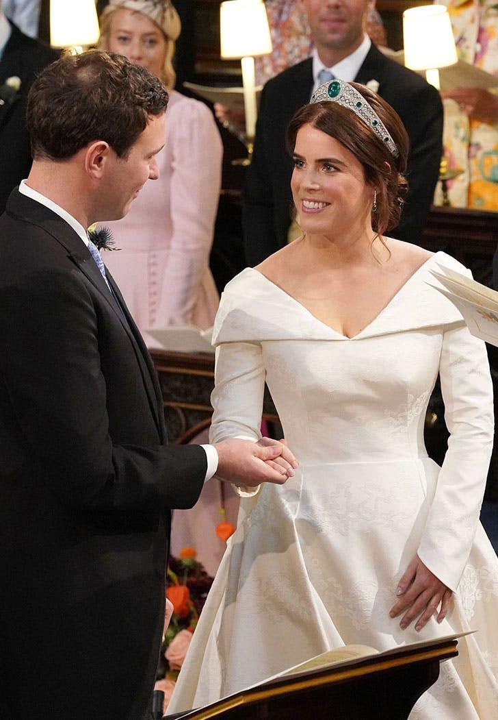 eugenie wedding dress front
