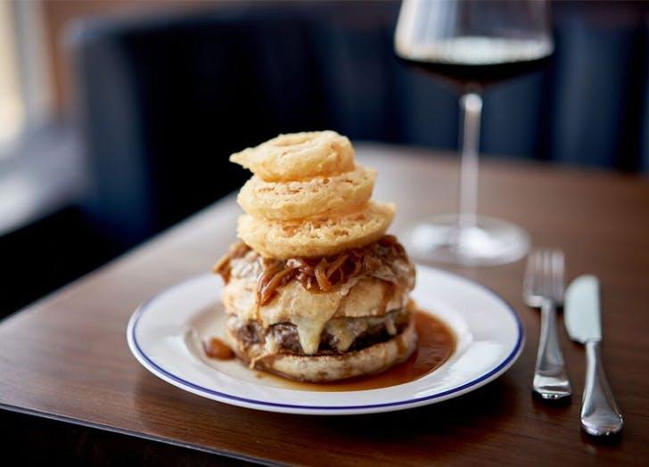 french onion burger manhatta nyc