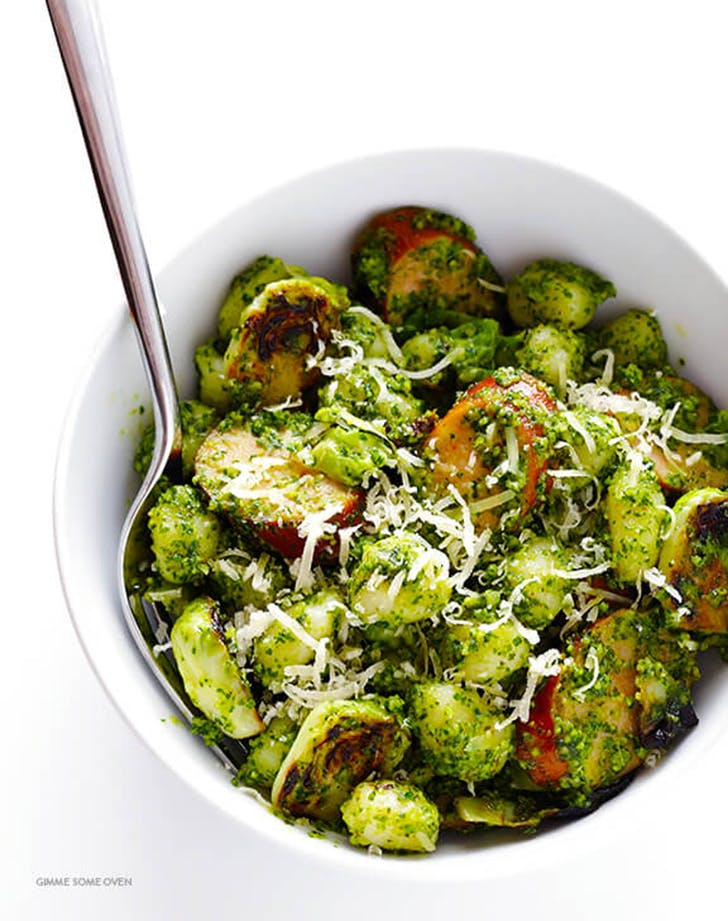 gnocchi brussels sprouts chicken sausage kale recipe