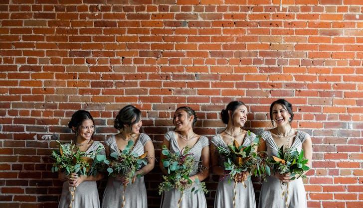 group of bridesmaids